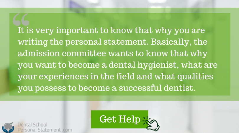 dental hygienist personal statement