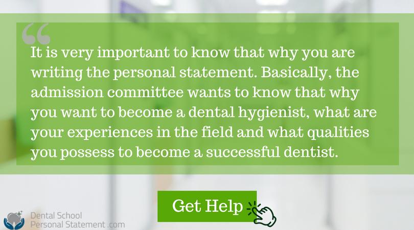 dental hygienist personal statement