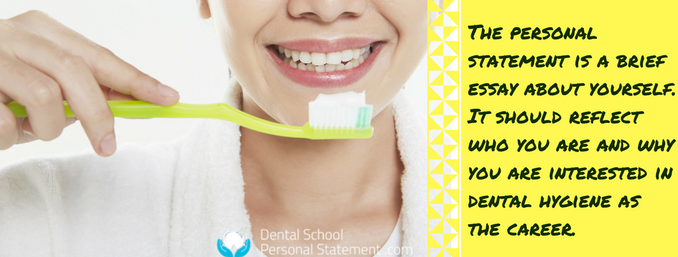 dental hygiene and therapy personal statement writing help