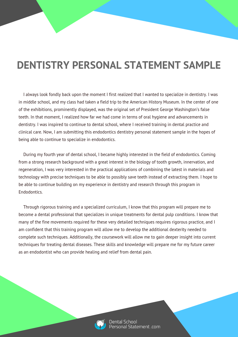 tips for writing a periodontics and restorative dentistry personal statement dentistry personal statement sample