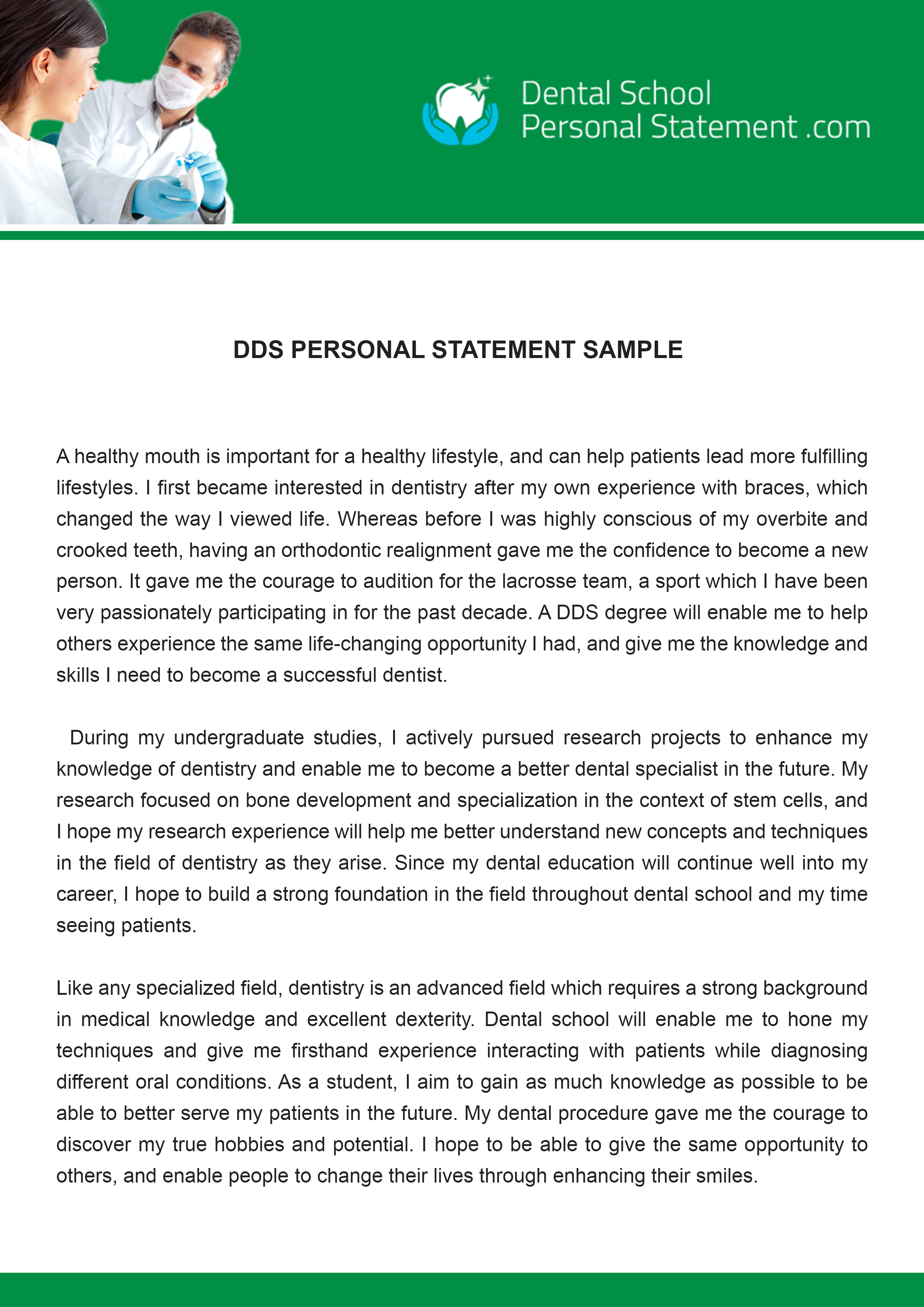 successful dental school personal statements Help with personal statement for dental school posted on april 26, 2018 by.