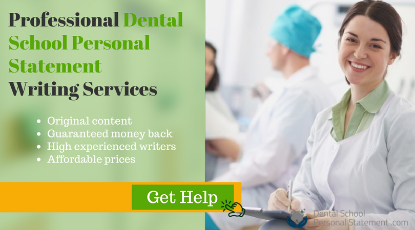 expert examples of personal statements for dental school