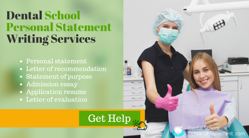 expert sample personal statement for dental school