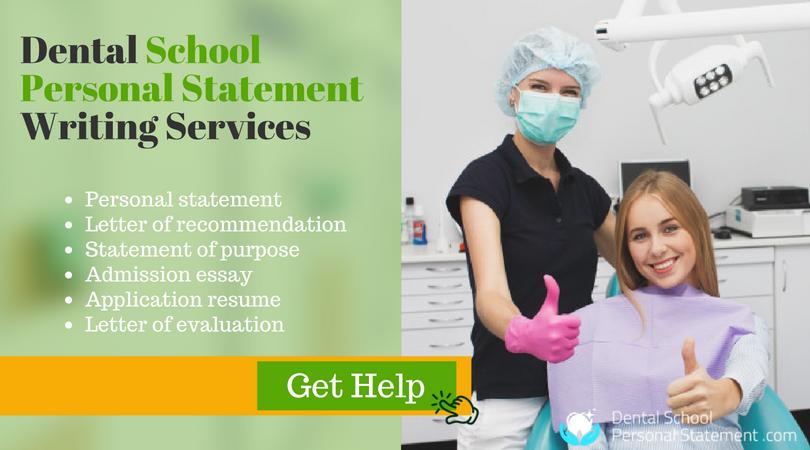 expert sample personal statement for dental school