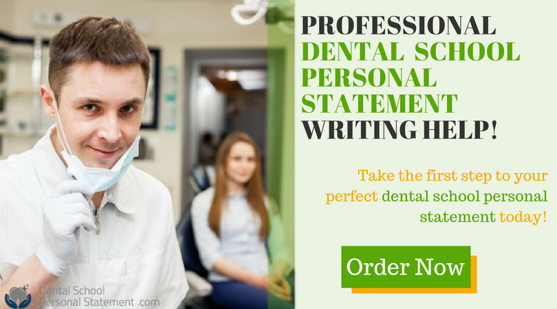 professional dental school personal statement samples