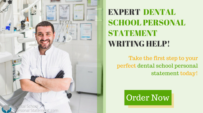 professional dental school personal statements