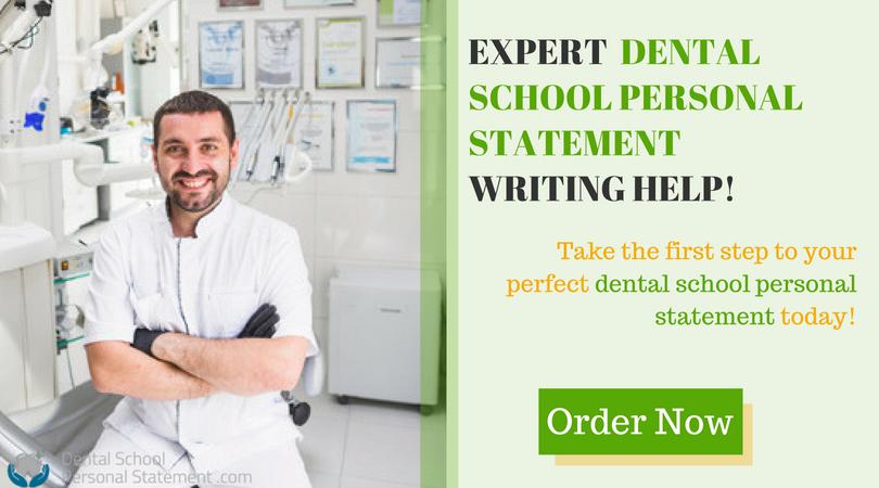 professional dental school personal statements