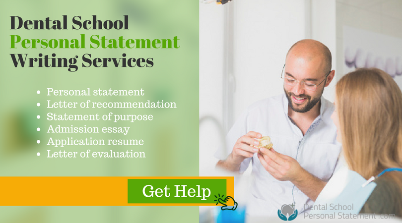 professional personal statements for dental school