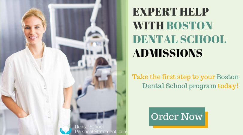 boston dental school writing help